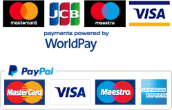 Payment by credit card, WorldPay or Paypal