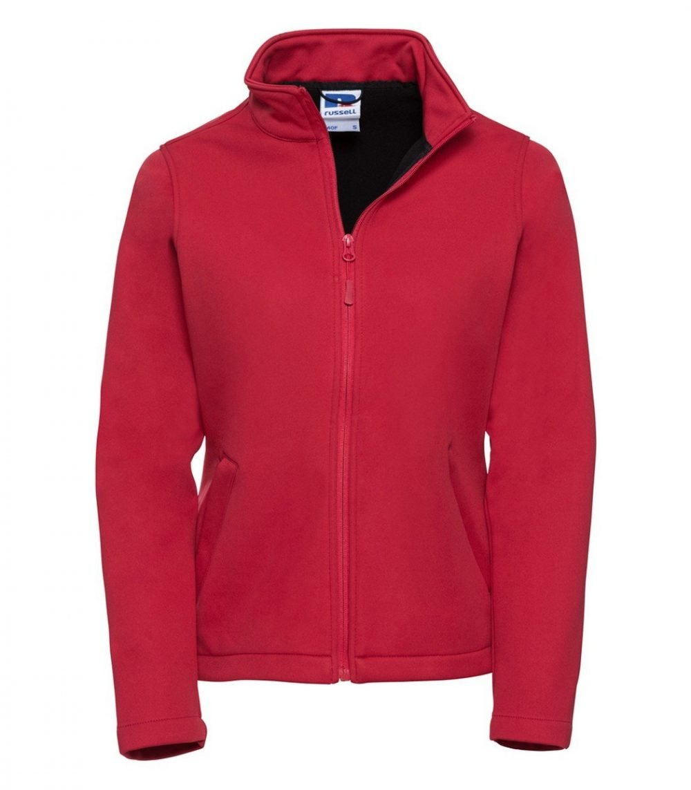 PPG Workwear Russell Ladies Smart Softshell Jacket R040F Classic Red Colour