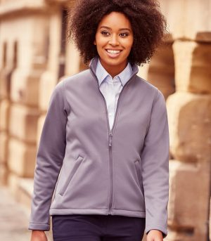PPG Workwear Russell Ladies Smart Softshell Jacket R040F Convoy Grey Colour