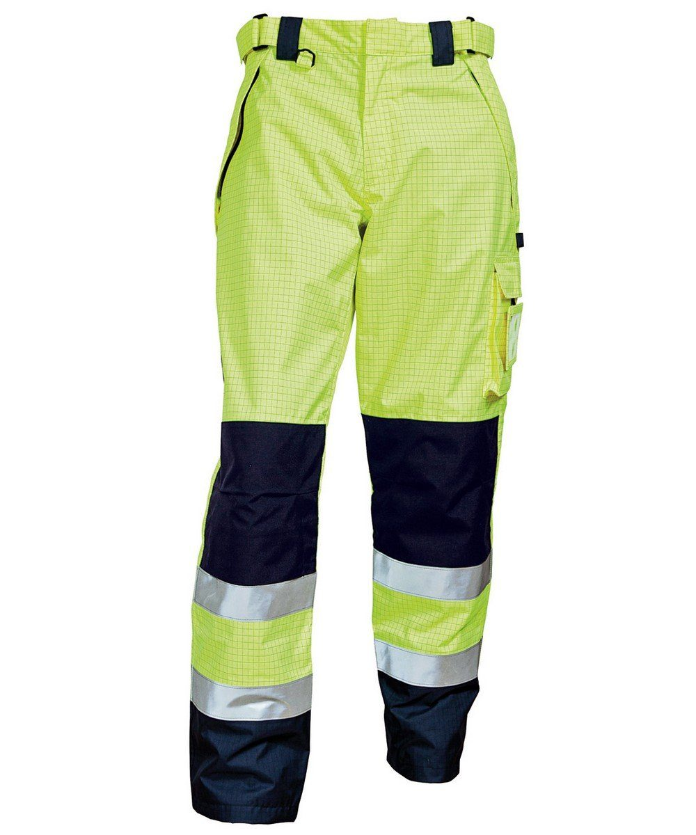 Elka Securetech FR Multinorm Trousers 082450R Yellow and Navy Blue Colour