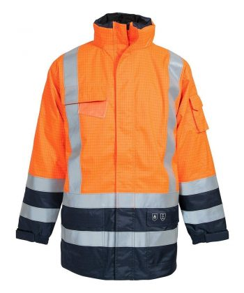 Elka Securetech Multinorm FR Jacket 086150R Orange and Navy Blue Colour