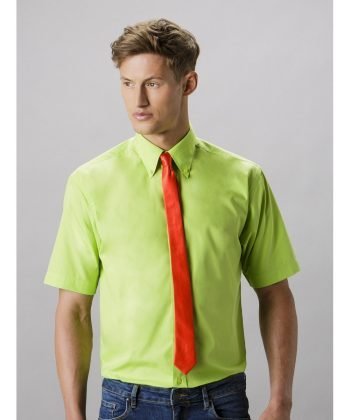 Kustom Kit Mens Workforce Short Sleeve Shirt KK100 Lime Colour