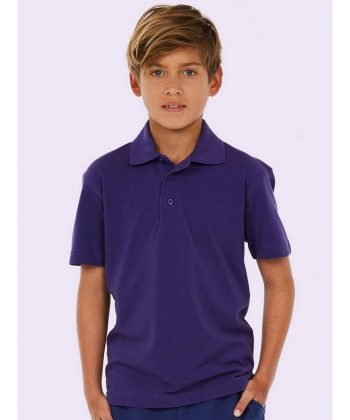 PPG Workwear Uneek Childrens Polo Shirt UC103 Purple Colour