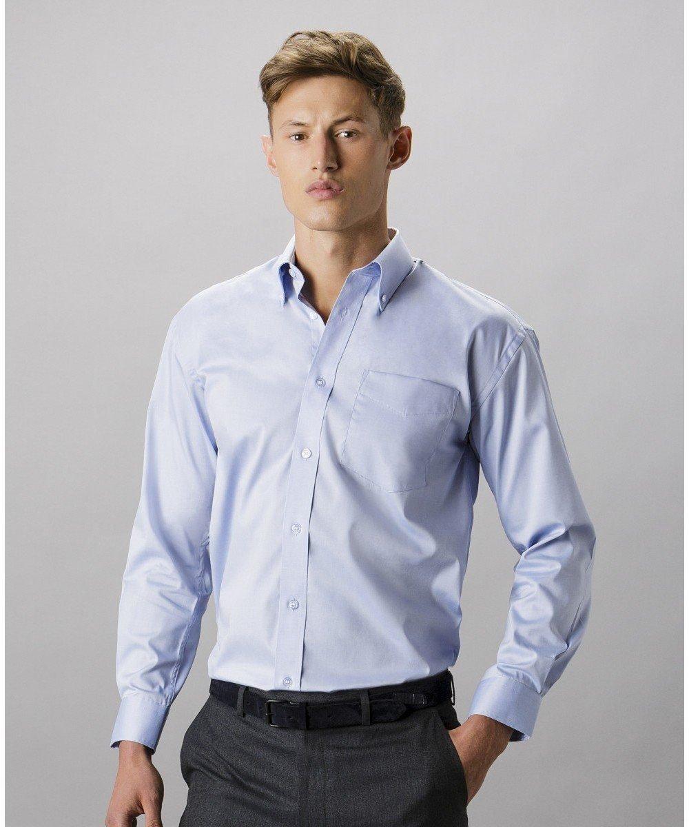 PPG Workwear Kustom Kit Mens Long Sleeve Oxford Shirt KK105 Light Blue Colour