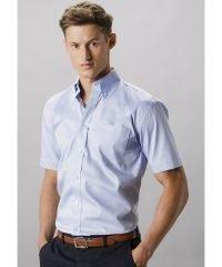 PPG Workwear Kustom Kit Mens Short Sleeve Oxford Shirt KK109 Light Blue Colour