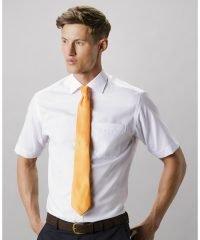 Kustom Kit Mens Premium Non Iron Short Sleeve Shirt KK115 White Colour