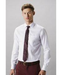 Kustom Kit Mens Premium Non Iron Long Sleeve Shirt KK116 White Colour