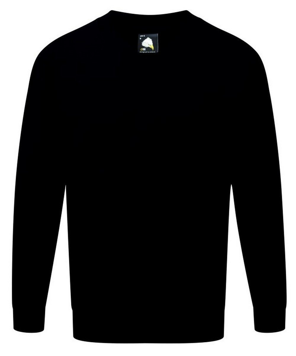 PPG Workwear Orn Buzzard V Neck Premium Sweatshirt 1260 Black Colour