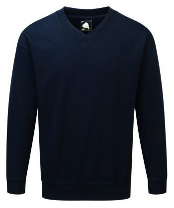 PPG Workwear Orn Buzzard V Neck Premium Sweatshirt 1260 Navy Blue Colour