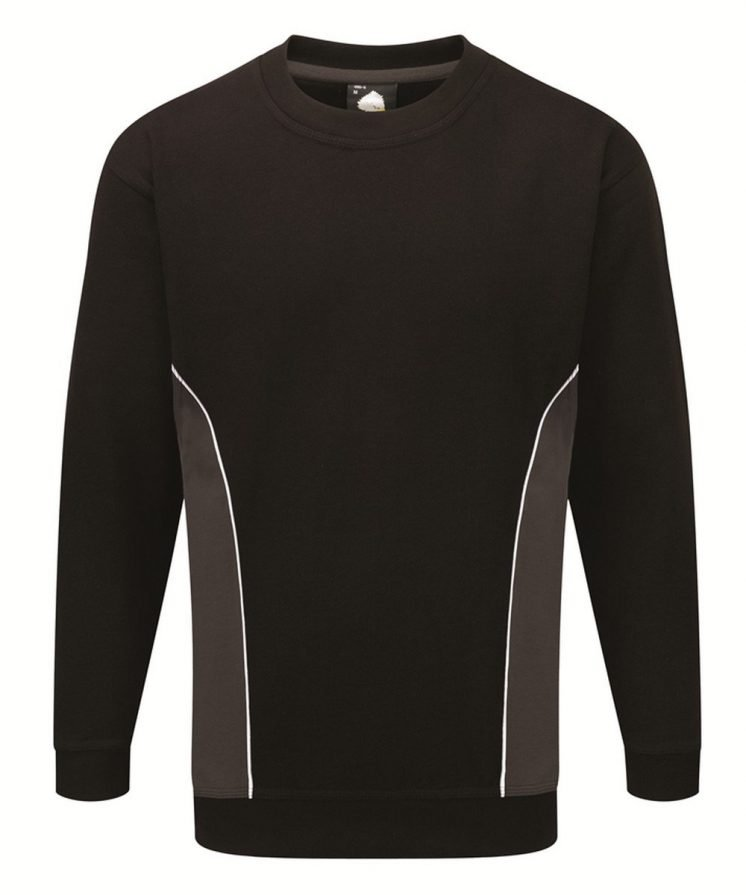 PPG Workwear Orn Silverstone Two Tone Premium Sweatshirt 1290 Black and Graphite Colour