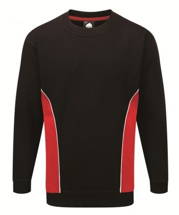 Orn Silverstone Two Tone Premium Sweatshirt 1290 Black and Red Colour