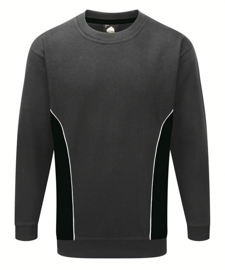 PPG Workwear Orn Silverstone Two Tone Premium Sweatshirt 1290 Graphite and Black Colour