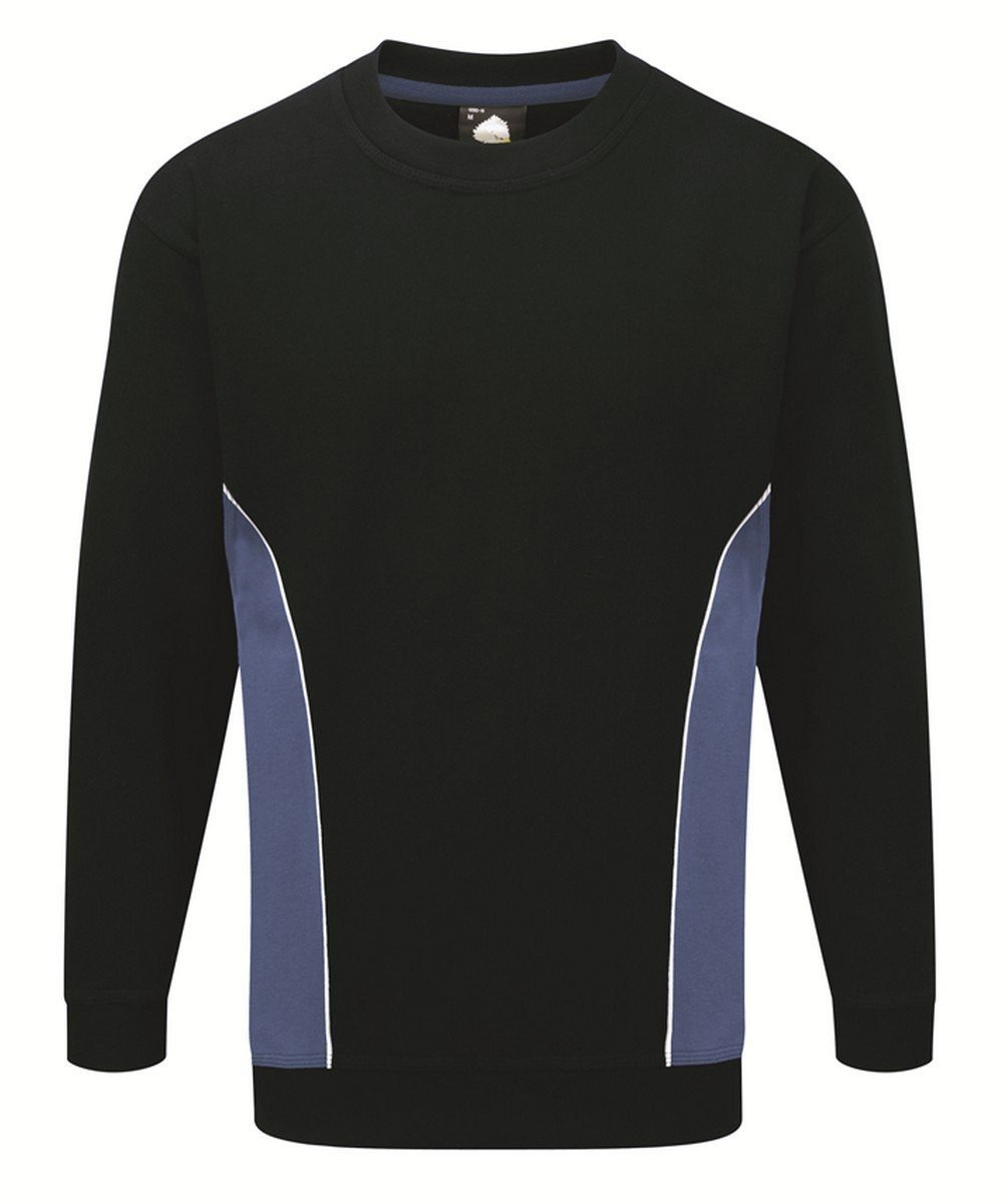 Orn Silverstone Two Tone Premium Sweatshirt 1290 Navy Blue and Royal Blue Colour