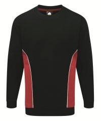 Orn Silverstone Two Tone Premium Sweatshirt 1290 Navy Blue and Red Colour