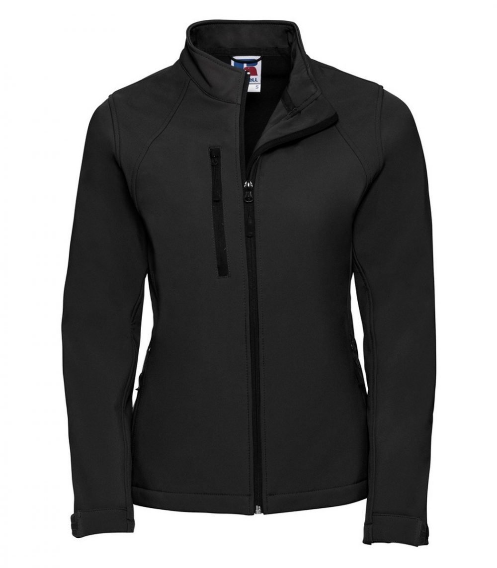 PPG Workwear Russell Ladies Softshell Jacket 140F Black Colour