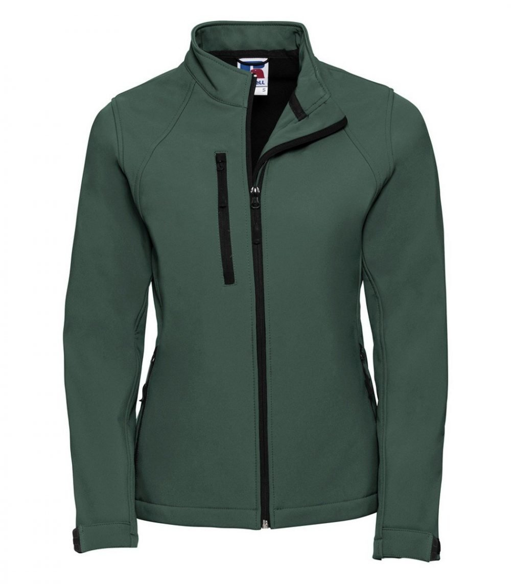 PPG Workwear Russell Ladies Softshell Jacket 140F Bottle Green Colour