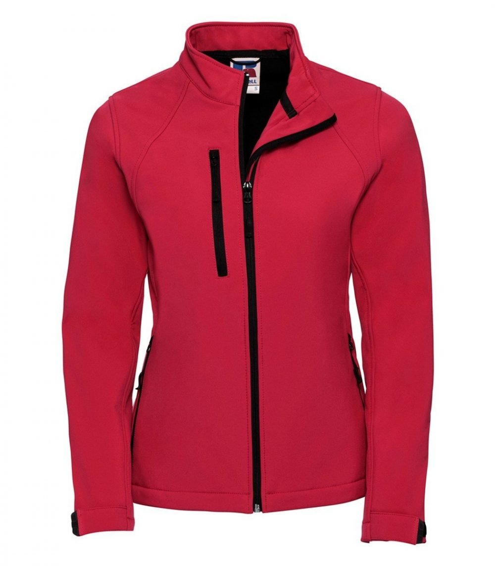PPG Workwear Russell Ladies Softshell Jacket 140F Red Colour