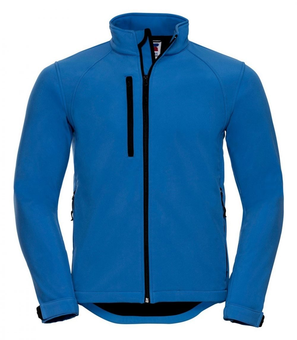 PPG Workwear Russell Mens Softshell Jacket 140M Azure Blue Colour