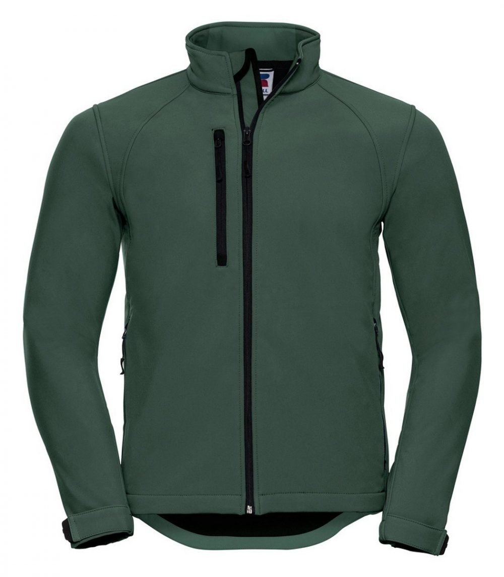 PPG Workwear Russell Mens Softshell Jacket 140M Bottle Green Colour