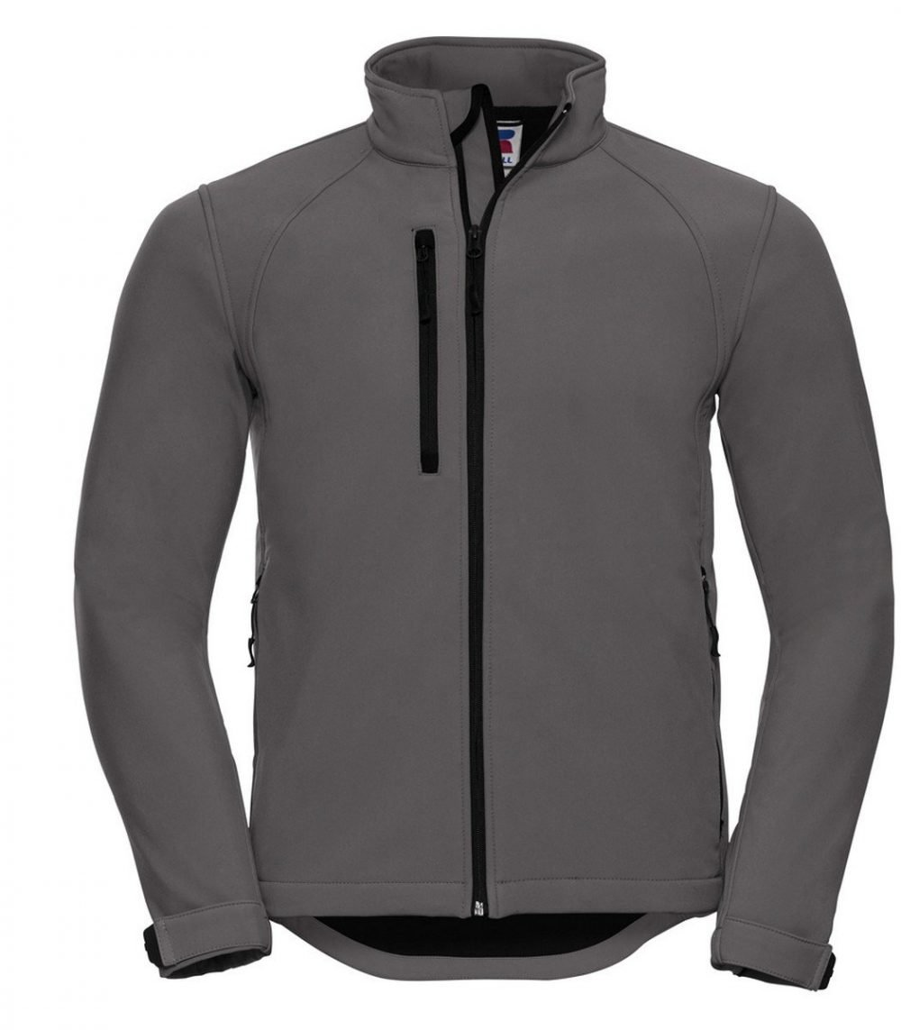 PPG Workwear Russell Mens Softshell Jacket 140M Titanium Grey Colour