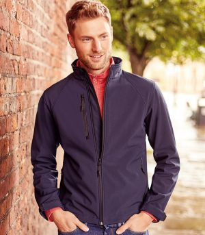 PPG Workwear Russell Mens Softshell Jacket 140M French Navy Colour