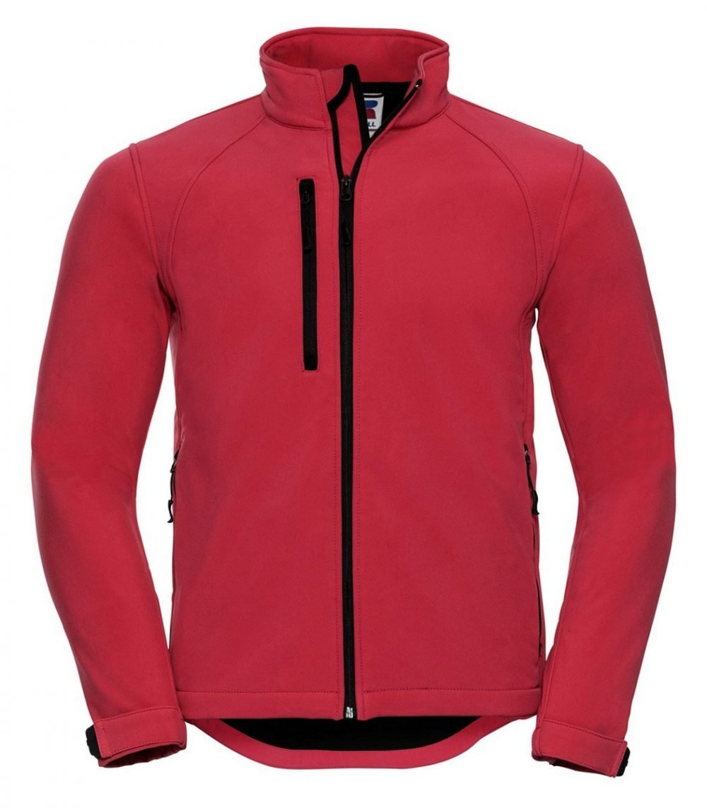 PPG Workwear Russell Mens Softshell Jacket 140M Red Colour
