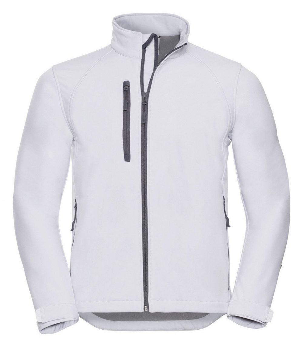 PPG Workwear Russell Mens Softshell Jacket 140M White Colour