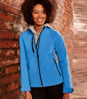 PPG Workwear Russell Ladies Softshell Jacket 140F Azure Blue Colour