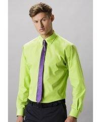 PPG Workwear Kustom Kit Mens Workforce Long Sleeve Shirt KK140 Lime Colour