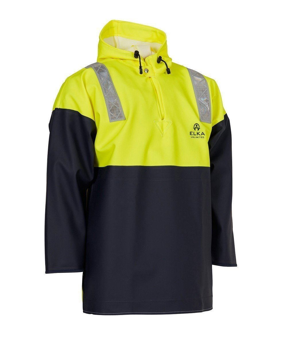 Elka Unlimited Smock with Storm Cuffs 177105 Yellow and Navy Blue Colour