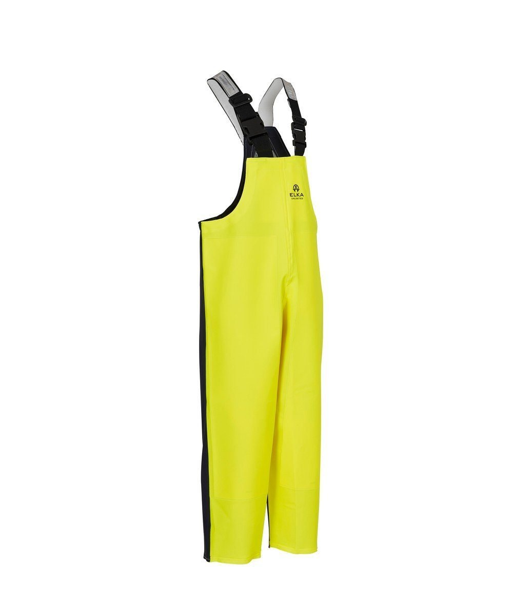 PPG Workwear Elka Unlimited Bib/Brace 177304 Yellow and Navy Blue Colour