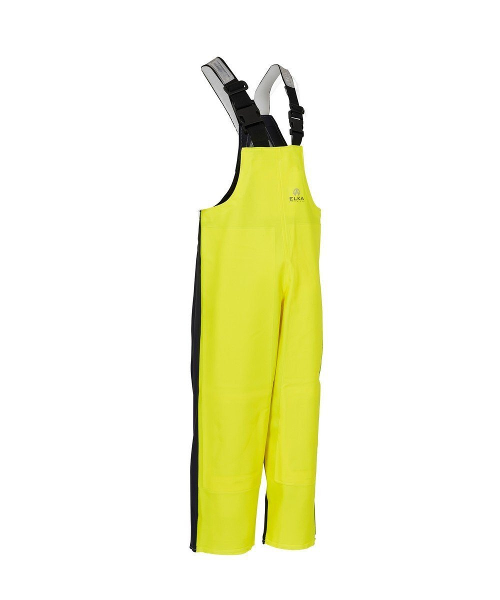 Elka Unlimited Bib/Brace with Welded Knee Pads 177305 Yellow and Navy Blue Colour