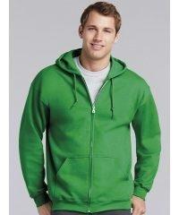 PPG Workwear Gildan Heavy Blend Adult Full Zip Hooded Sweatshirt 18600 Irish Green Colour