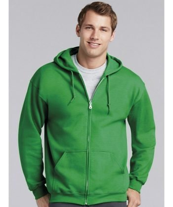 PPG Workwear Gildan Heavy Blend Adult Full Zip Hooded Sweatshirt 18600 Irish Green Colour