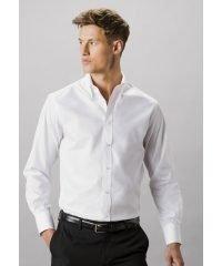 Kustom Kit Mens Tailored Fit Long Sleeve Premium Oxford Shirt KK188 White Colour