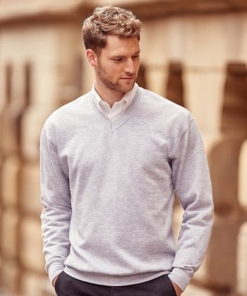 PPG Workwear Russell V-Neck Sweatshirt 272M Light Oxford Grey Colour