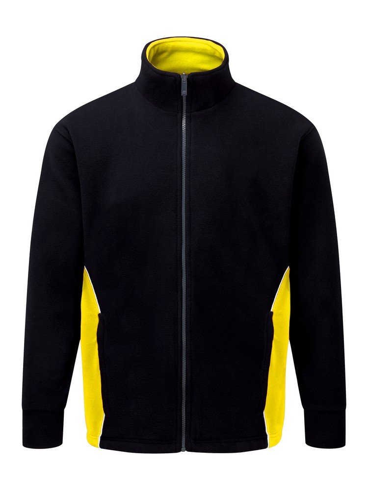 PPG Workwear Orn Silverswift Two Tone Premium Fleece 3180 Black and Yellow Colour