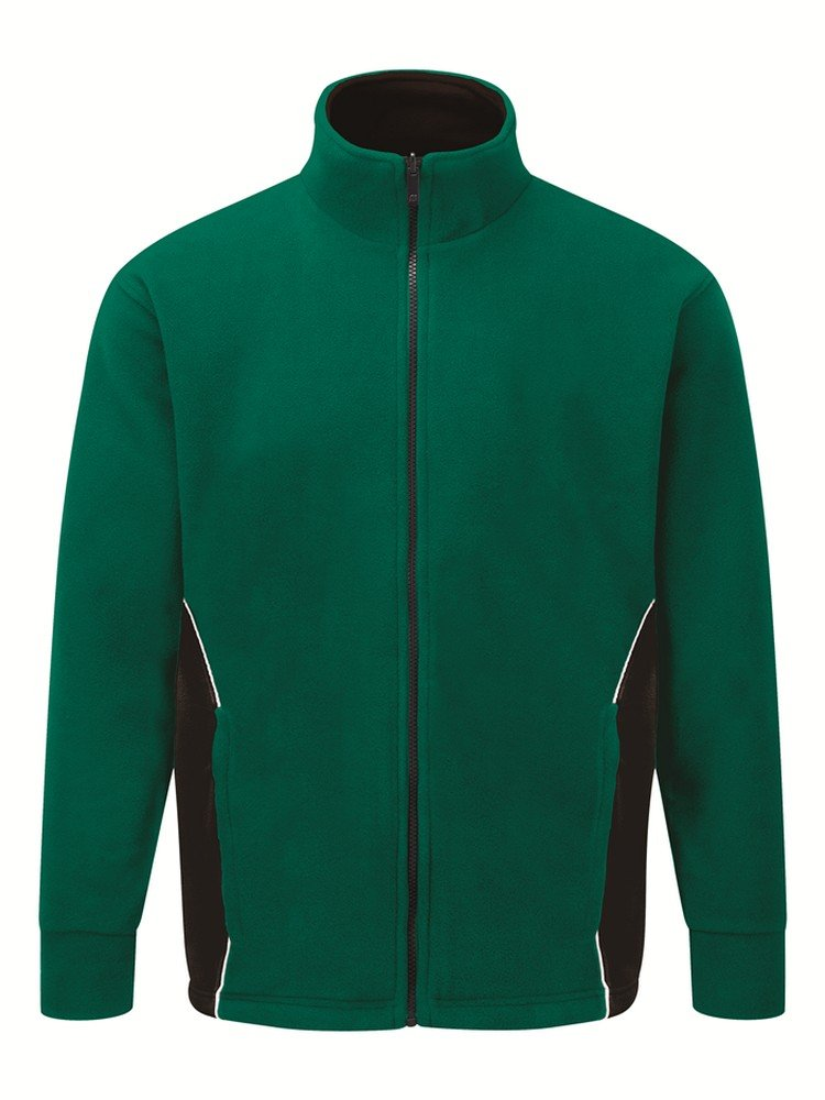 PPG Workwear Orn Silverswift Two Tone Premium Fleece 3180 Bottle Green and Black Colour