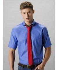 Kustom Kit Mens Workwear Short Sleeve Oxford Shirt KK350 Italian Blue Colour
