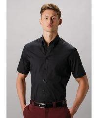 PPG Workwear Kustom Kit Mens City Short Sleeve Business Shirt KK385 Black Colour