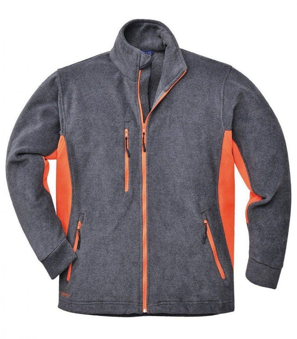 PPG Workwear Portwest Texo Two Tone Fleece TX40 Grey and Orange Colour