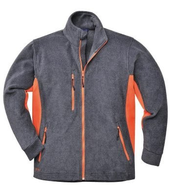 PPG Workwear Portwest Texo Two Tone Fleece TX40 Grey and Orange Colour