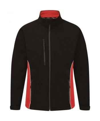 PPG Workwear Orn Silverswift Two Tone Softshell Jacket 4280 Black Red Colour