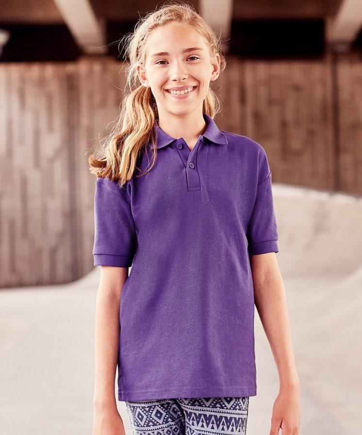 PPG Workwear Jerzees Schoolgear Childrens Classic Polo Shirt 539B Purple Colour