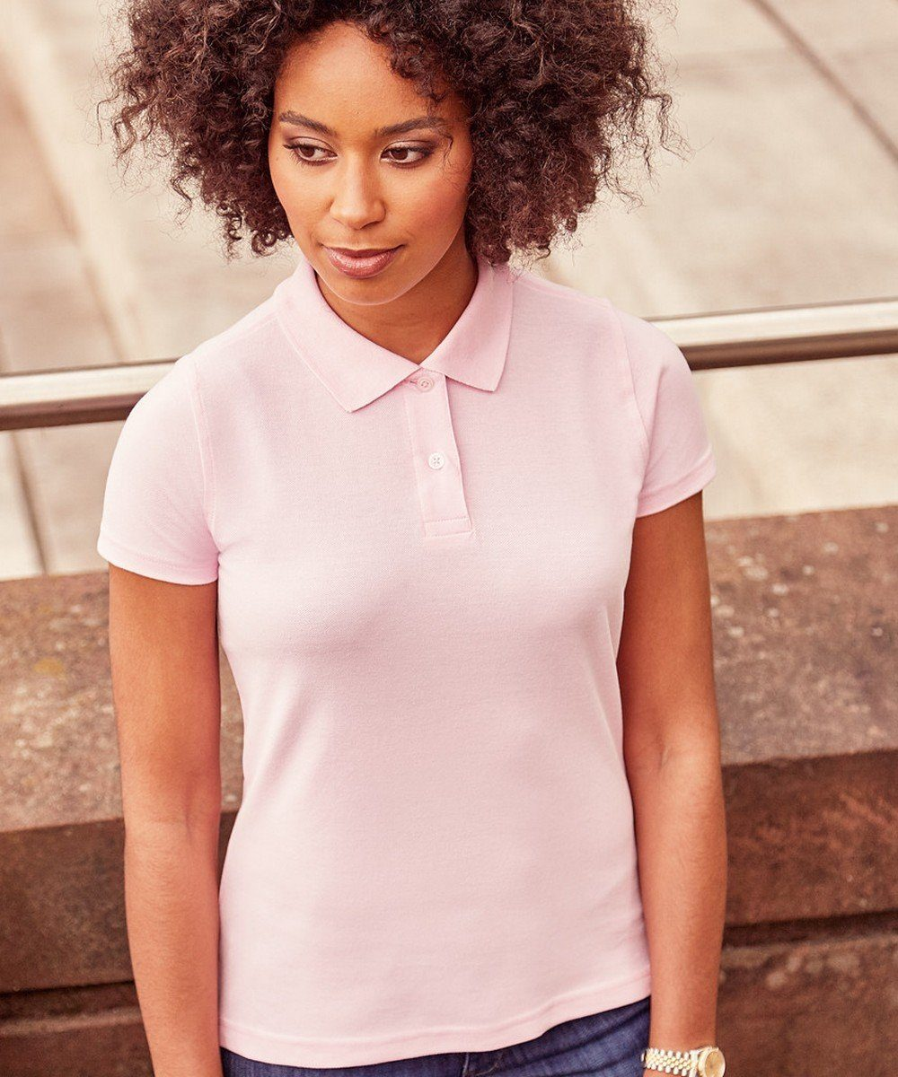 Russell Ladies Classic Cotton Polo Shirt 569F Candy Pink Colour