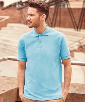 PPG Workwear Russell Mens Classic Cotton Polo Shirt 569M Sky Blue Colour