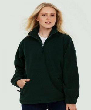 PPG Workwear Uneek Premium 1/4 Zip Fleece UC602 Black Colour