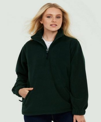 PPG Workwear Uneek Premium 1/4 Zip Fleece UC602 Black Colour