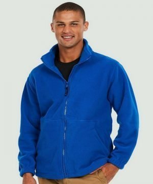 PPG Workwear Uneek Classic Full Zip Fleece UC604 Royal Blue Colour