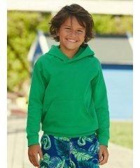 PPG Workwear Fruit Of The Loom Kids Lightweight Hooded Sweatshirt 62009 Kelly Green Colour